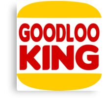 Good Looking: Vintage Burger King Parody Canvas Print
