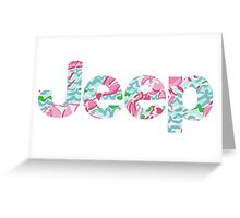 Jeep Lilly Pulitzer Inspired Print Vinyl Sticker Greeting Card