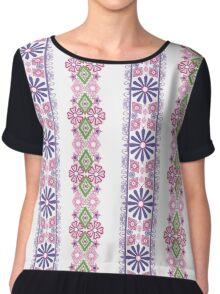Seamless flowers pattern floral background Chiffon Top