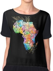 Love Africa Design Chiffon Top