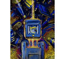 Pocket Power - BLUE VERSION Photographic Print