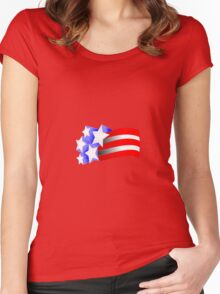Stars and Stripes Women's Fitted Scoop T-Shirt