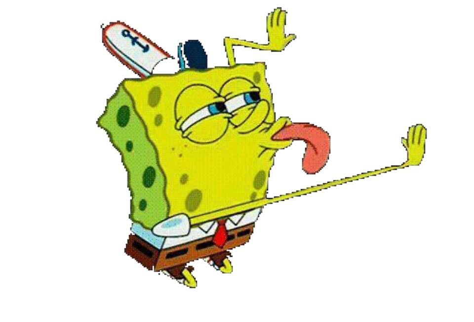 Quot Transparent Spongebob Lick Meme Quot By Niennajane Redbubble
