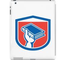 Hand Holding Book Shield Retro iPad Case/Skin