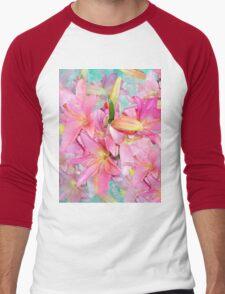 PINK LILY Men's Baseball ¾ T-Shirt