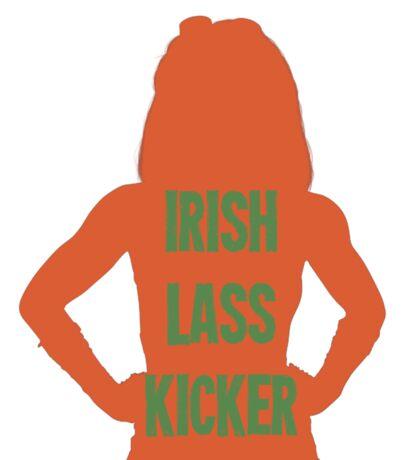 Irish Lass Kicker Sticker