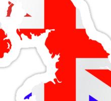 United Kingdom Flag and Map Sticker