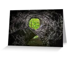 Cave in the Woods Greeting Card