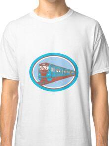 Passenger Train Front View Retro Classic T-Shirt
