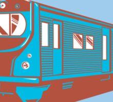 Passenger Train Front View Retro Sticker