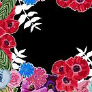 Black and Floral Pattern by Greenbaby