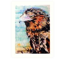 Eagle with Blue Art Print