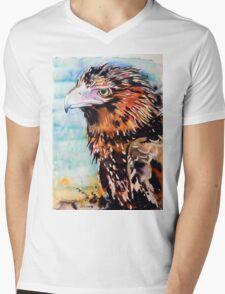 Eagle with Blue Mens V-Neck T-Shirt