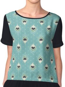 Black Hearts Chiffon Top