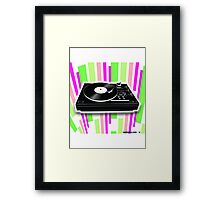 Cool Retro Record Player - 2 Framed Print