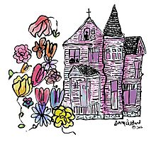 the house we haunt - colored Photographic Print