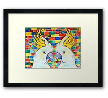 Double Cocky Framed Print
