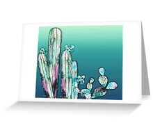 Painted Mint Desert Greeting Card