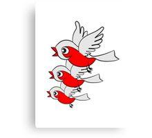 Vogel fliegen süss klein niedlich formation  Canvas Print