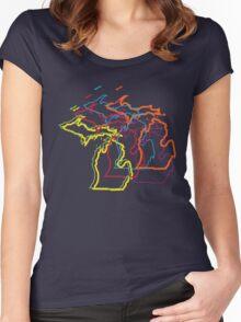 michigan pride blur Women's Fitted Scoop T-Shirt