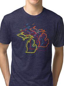 michigan pride blur Tri-blend T-Shirt