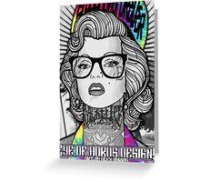 Tie Die Hipster Monroe Greeting Card