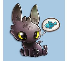 hungry Baby Toothless Dragon Photographic Print
