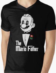 The Mario Father Mens V-Neck T-Shirt