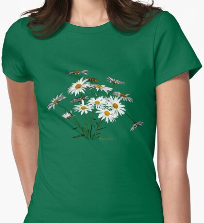 The Scent of Daisies ~ Sadness Womens Fitted T-Shirt