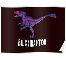 Bilociraptor - Text Poster