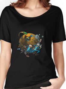 Ricy And Morty Pursued The Alien Women's Relaxed Fit T-Shirt