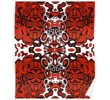 Miniature Aussie Tangle 13 in Black White and Red Poster