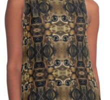 cat eyes and cat heads Contrast Tank