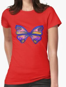 Watercolour Butterfly 1 Womens Fitted T-Shirt