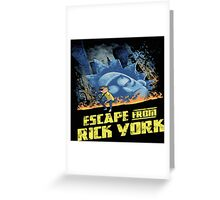 rick and morty escape from new york Greeting Card