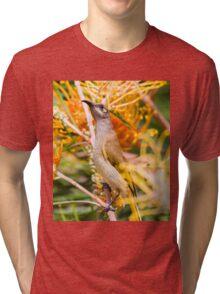 Brown Honeyeater Tri-blend T-Shirt