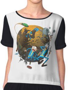Rick And Morty Fallout Chiffon Top
