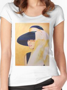 audrey, gold Women's Fitted Scoop T-Shirt