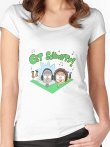 Rick And Morty Get Schwifty Women's Fitted Scoop T-Shirt