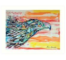 Rainbow Eagle Art Print