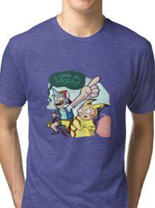 Rick And Morty Meet Pikachu Tri-blend T-Shirt