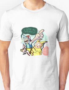 Rick And Morty Meet Pikachu Unisex T-Shirt