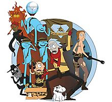 Rick And Morty Metal Gear Solid Photographic Print