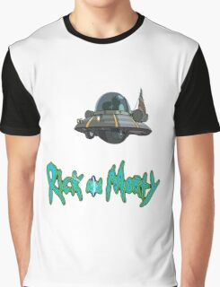 rick and morty UFO Graphic T-Shirt
