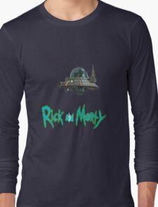 rick and morty UFO Long Sleeve T-Shirt