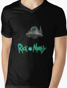 rick and morty UFO Mens V-Neck T-Shirt