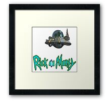 rick and morty UFO Framed Print