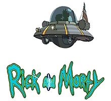 rick and morty UFO Photographic Print