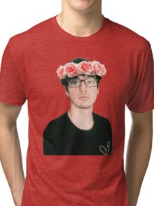 Joji Millier [Filthy Frank] Flower Crown Tri-blend T-Shirt