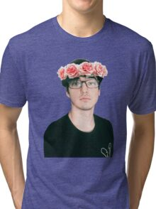 Joji Millier [Filthy Frank] Flower Crown Tri-blend T-Shirt